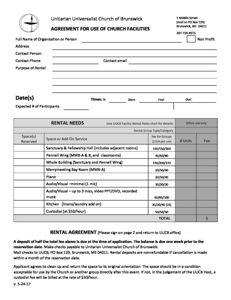 Rental agreement